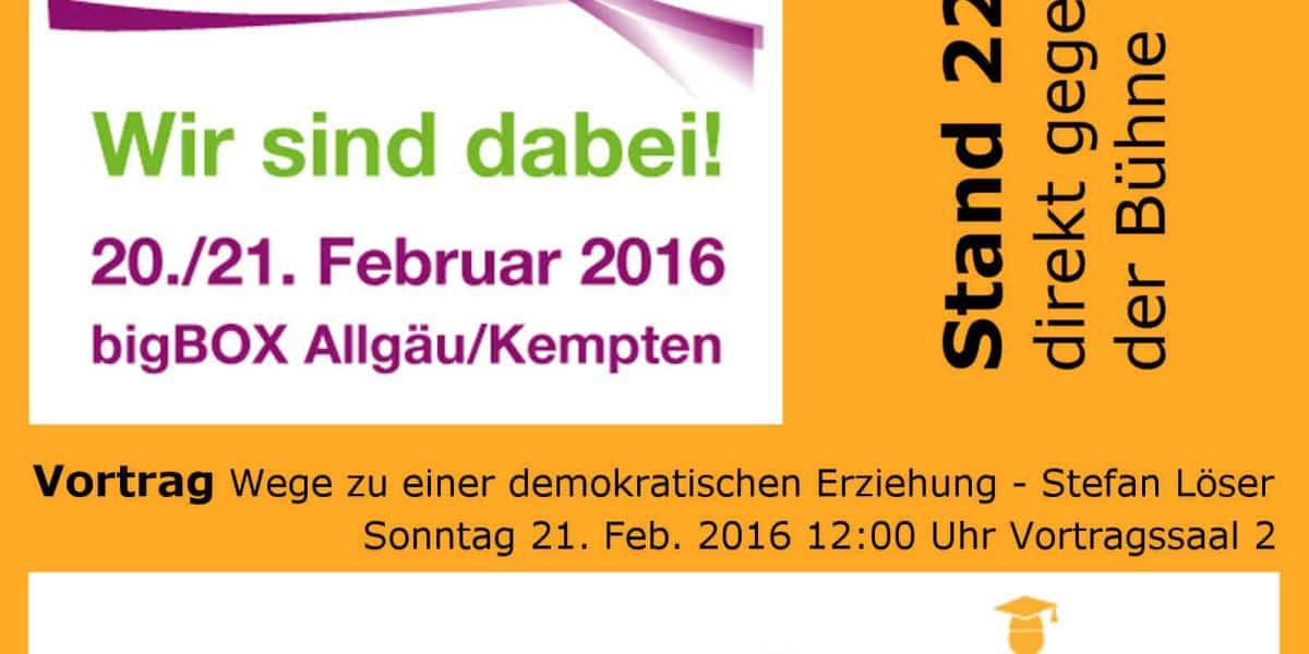 Vortrag Wege zu einer demokratischen Erziehung von der lernfabriQ Kempten - Nachhilfe und Prüfungsvorbereitung im Allgäu.